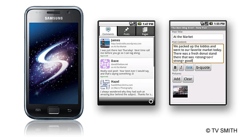 Galaxy S & Android & WordPress