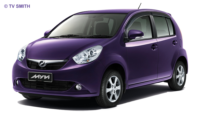 The New 2011 Perodua Myvi in Mystical Purple