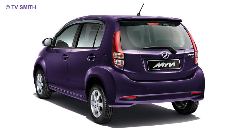 New Myvi's stylish rear