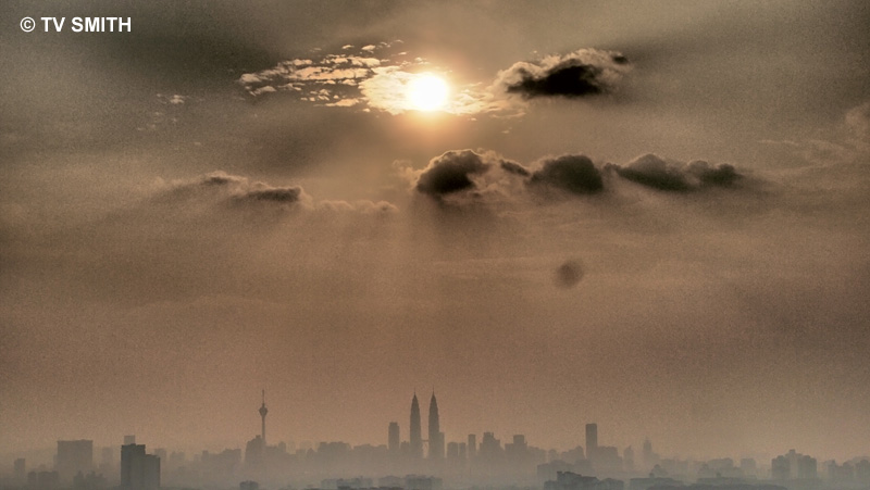 Art Filtered-Lazy-Hazy-Sunday-Sunset uploaded from the hilltop