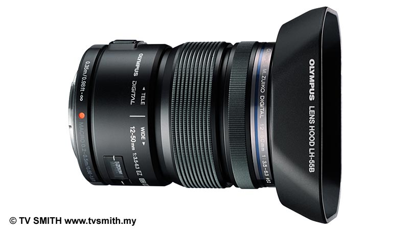 The New Olympus M.Zuiko ED 12 to 50mm Zoom Lens - Black Version with Hood