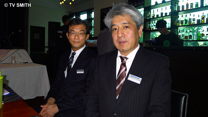 Mr Toshiyuki Terada (right) and Mr Tan Tick Boon, MD Olympus Malaysia