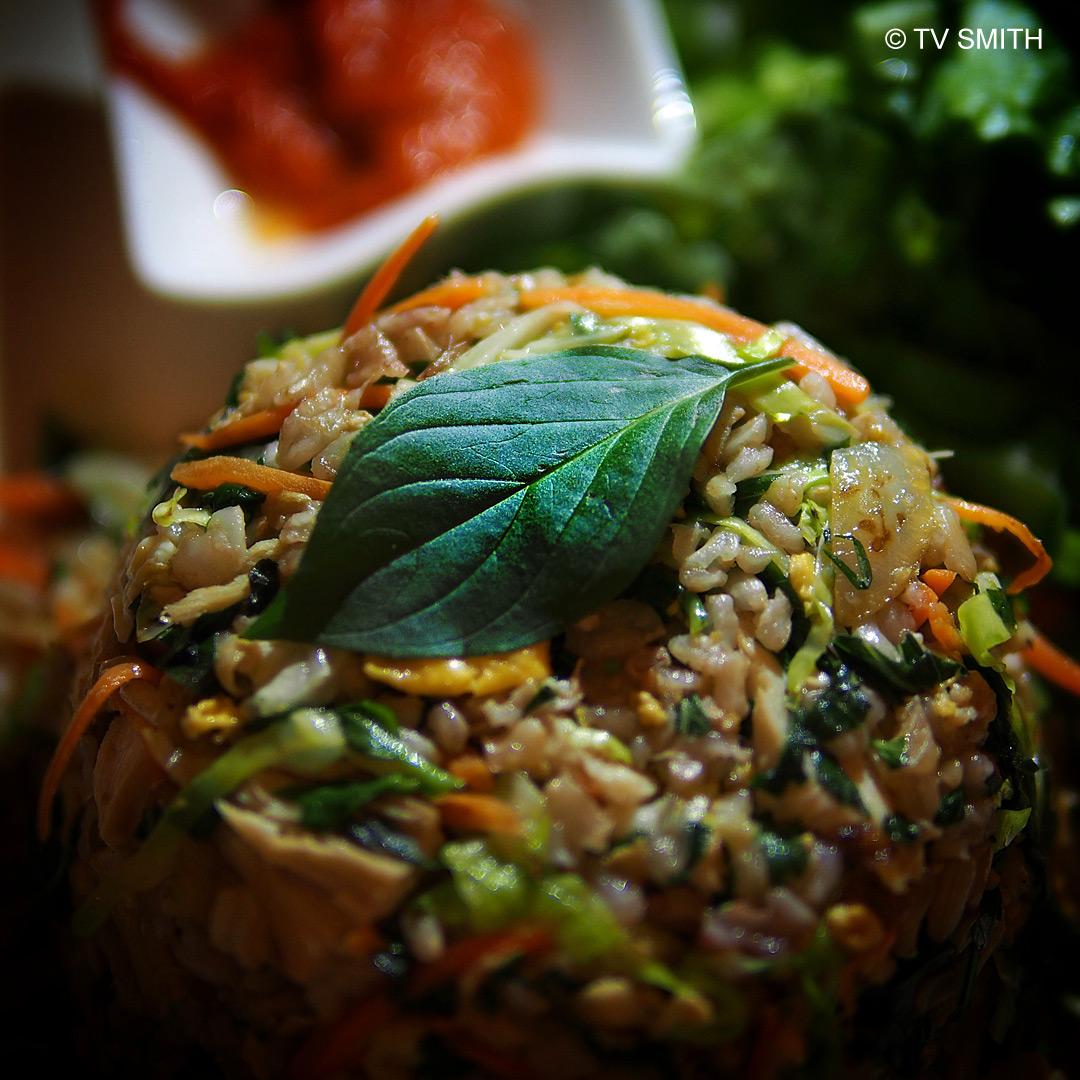 Basil Chicken Fried Rice at EcoGreen Restaurant