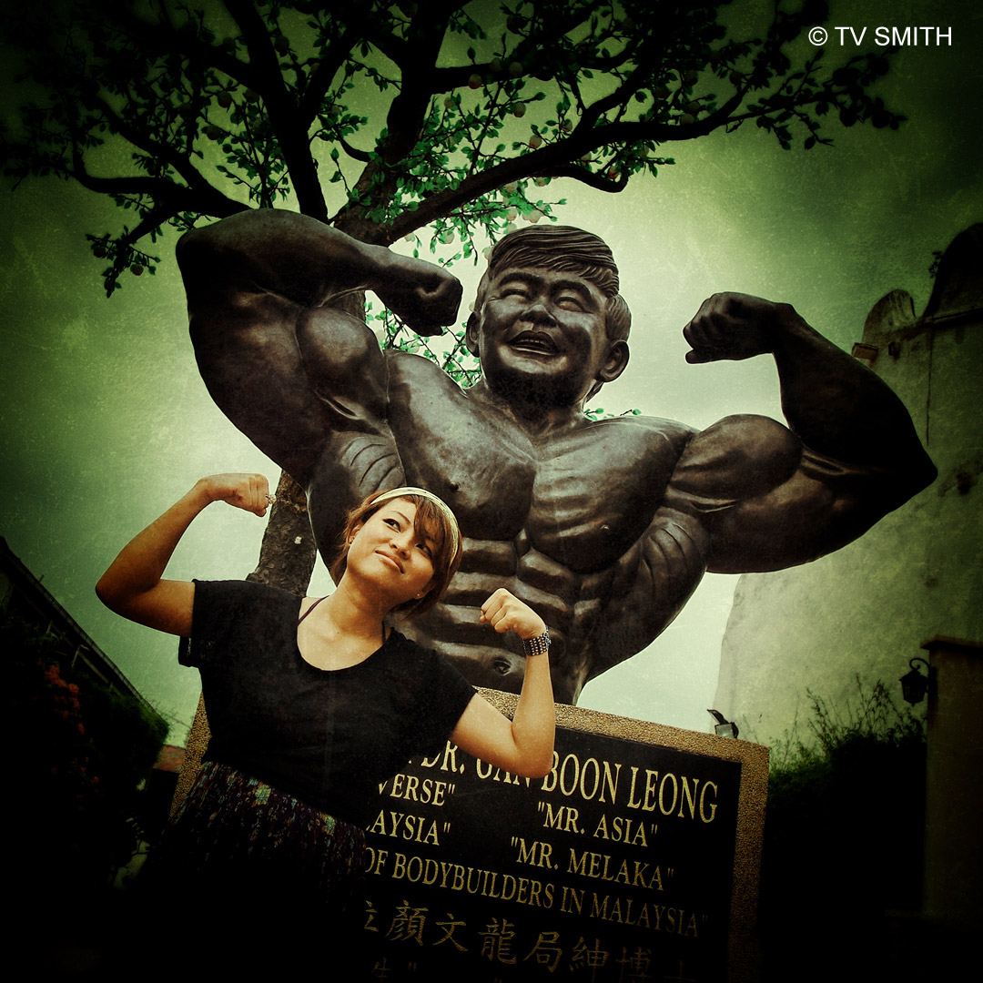 Larger Than Life - Statue of Datuk Wira Gan Boon Leong, Mr Asia, Mr Universe, Body Builder, Melaka
