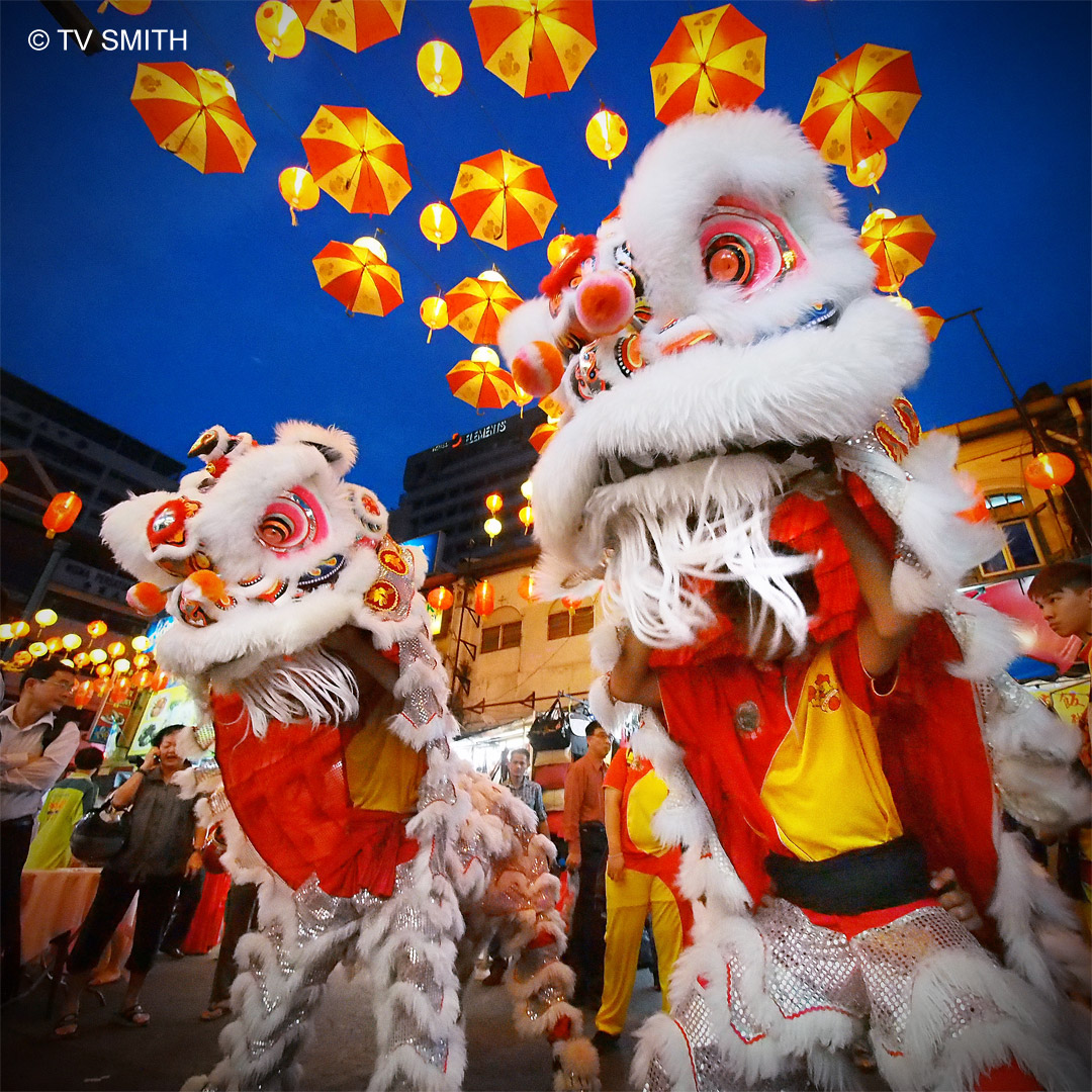 Chinese New Year Lion Dance At Chinatown KL